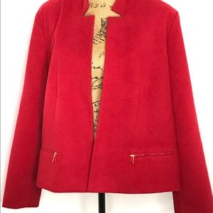 Chico's Open Front Jacket-Size 3(16)-NWT- Red